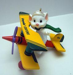 Hallmark Crayola Crayon Mouse Pilot Bi by TamarasTreasureTrove