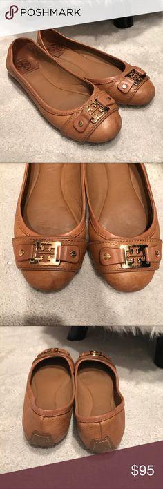 Tory Burch tan flats. Worn but in good condition! Tory Burch tan classic flats. Worn but in good condition! Size 8. Tory Burch Shoes Flats & Loafers