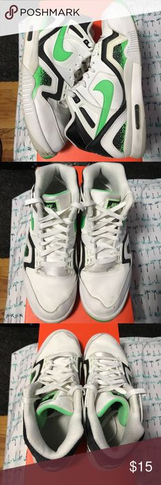 Nike air tech challenge II poison green Worn, slight yellowing, great for beaters Nike Shoes Sneakers