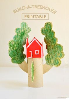 FREE Build-a-treehouse Printable for kids