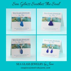 Blue shades of sea glass can be so relaxing to look at and to wear!