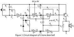 circuit diagram of 2 tone door bell