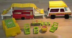 """little people pop up camper (loved this and all the little people)  ...Am collecting all the """"new"""" LP for my son- So much fun!"""