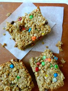 Yum Yum Bars: use gluten free rolled oats & gluten free Rice Krispies