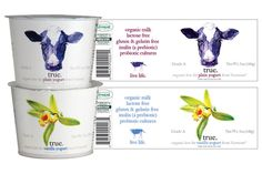 Design and Illustrations for True Yogurt #organic #packaging PD