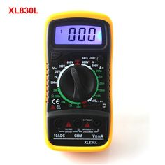 7.1$  Know more - New XL830L Digital Multimeter Portable Multi Meter AC/DC Multitester Instrumentation Blue Backlight Free shipping   #magazine