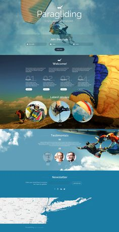 Paragliding Responsive Landing Page Template #55433