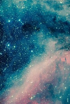 Blue and pink galaxy
