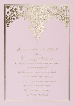 Pink & Gold foil wedding invitation. This is the most stunning invitation. Unique and gorgeous. #invitationsbydawn #pinkwedding