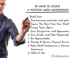 Motivational Monday Question: How do you create a positive work environment with your team?
