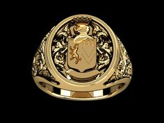 Italiano Family Crest ring I'm having made for Roland
