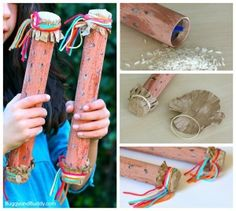 Rainstick Craft for Kids (and Science Activity)- Explore sound with a homemade instrument! ~ BuggyandBuddy.com