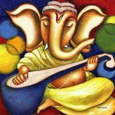 abstract ganesha paintings - Google Search
