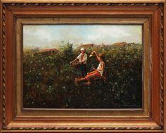 Francesco Brunocilla. Colheita. OST. Assinado e datado 85. 76 x 80 cm.