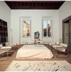 "lamignonette:  ""Cy Twombly's studio, Rome, 1969-1970  """