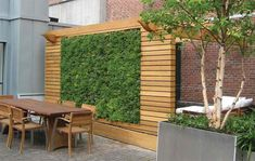 Add beauty to your backyard by turning your fence into a living wall. Outdoor Living Ideas We Love at Design Connection, Inc. | Kansas City Interior Design http://www.DesignConnectionInc.com