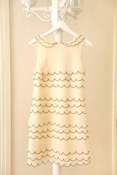 Ted Baker scalloped dress