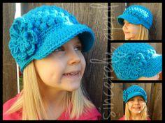 Crochet Puff Stitch Style Newsboy Hat by SincerelyApril on Etsy, $25.00