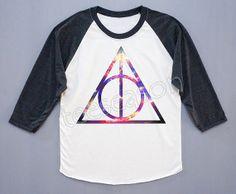 NEW Deathly Hallows Galaxy Shirt Harry Potter Shirt by teeseason, $18.00