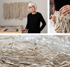 Kiyomi Iwata: From Volume to Line is sponsored by Dawn and Stuart Siegel, Friends of Fiber Art International, the National Endowment for the Arts ArtWorks . Textile Sculpture, Textile Fiber Art, Textile Artists, Sculpture Art, Visual Arts Center, Art Beat, Creative Textiles, Felt Art, Art Plastique