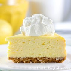 Best Lemon Cheesecake