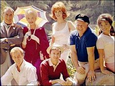 Gilligan's Island - with Gilligan (Bob Denver), the skipper too (Alan Hale), the millionaire and his wife (Thurston Howell/Jim Backus & Lovey/Natalie Schafer), the movie star (Ginger/Tina Louise), the professor (Russell Johnson) and Maryann (Dawn Wells).