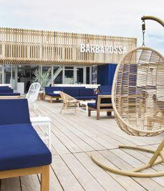 Barbarossa  beachclub bar restaurant Scheveningen exterior terrace lounge Hubert Crijns architects