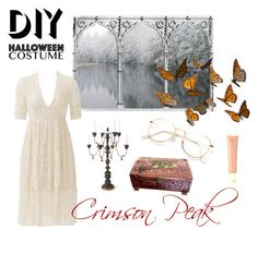 """Crimson Peak diy Halloween"" by northgoodsco on Polyvore featuring Free People, Bliss Studio, Forever 21, halloweencostume and DIYHalloween"