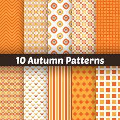 Autumn vector seamless patterns. Endless texture for wallpape vector art illustration