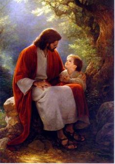 Jesus Spending 'Time with a Little One