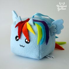Rainbow Dash Cute Cube Plushie My Little Pony