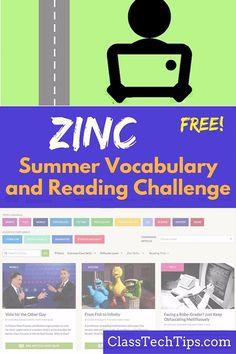 Zinc Free Summer Vocabulary and Reading Challenge