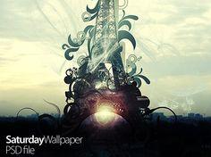 Eiffel tower free PSD graphic @freebiepsd