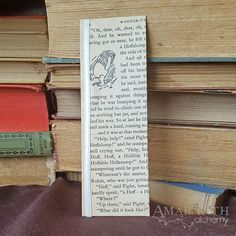 Winnie the Pooh Book Page and Ribbon Bookmark My Bookmarks, Ribbon Bookmarks, House At Pooh Corner, Special Person, Book Pages, Alchemy, New Books, Winnie The Pooh, Creative