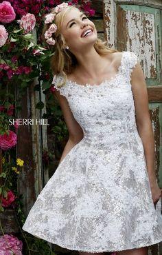 Sherri Hill - Official Site of Designer - Prom Dresses - Couture Dresses Xv Dresses, Fall Dresses, Evening Dresses, Cute Formal Dresses, Pretty Dresses, Beautiful Dresses, Casual Dresses, Sherri Hill Prom Dresses Short, Homecoming Dresses