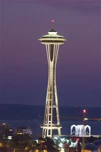 The space needle.  Glad I got to do this even though it was so windy I thought I was going to blow off!