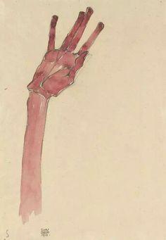 Рука , Эгон Шиле 1910