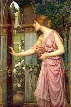 Psyché   ~ John William Waterhouse ~ (English, 1849-1917)