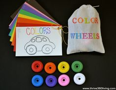 A Fun Color Matching Game: Matching wheels and cars!