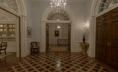 """The White House upstairs landing constructed for """"House of Cards."""""""