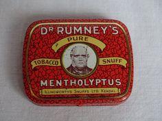 Dr Rumney s Pure Tobaco Snuff Box