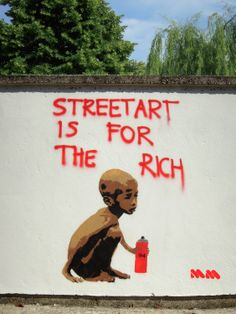 Streetart is for the rich by Massimo Mion