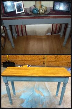 Refurbished Sofa Table Painted And Glazed 985a9vmw