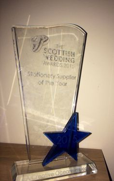 Scottish Wedding Awards Stationery Supplier of the Year 2015.... Made Marvellous