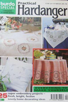 Practical Hardanger Embroidery Magazine Burda by TheHowlingHag, $9.95