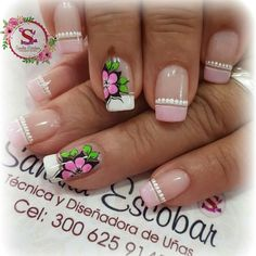 Fingernails Painted, Nail Effects, Flower Nail Art, Nail Arts, Manicure And Pedicure, Beauty Nails, Simple Designs, Hair And Nails, Nail Art Designs