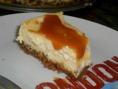 Cheesecake et sa sauce caramel au beurre salé