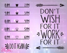 Motivational Water Bottle Front & Back Fitness Workout Vinyl Decal Cutting File in Svg, Eps, Dxf, and Jpeg Format for Cricut and Silhouette by SVGSalon on Etsy https://www.etsy.com/listing/248981709/motivational-water-bottle-front-back