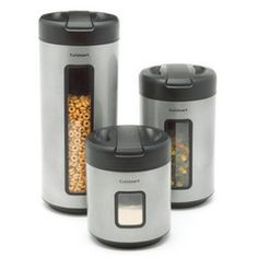 Cuisinart 3-Piece Food Canister Set times Two.