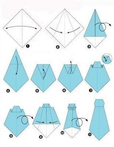 How to make a tie Instructions for a paper tie Origami Origami Shirt, Instruções Origami, Origami Dress, Dollar Origami, Pioneer School Gifts, Pioneer Gifts, Origami Instructions, Origami Tutorial, Make A Tie